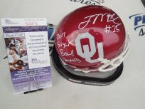 Joe Mixon Signed Oklahoma OU Sooners Mini Helmet w/ 2017 Sugar Bowl Champs JSA COA