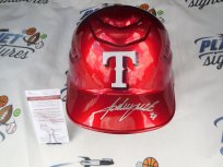 Adrian Beltre Signed Texas Rangers Red Full Size MLB Metallic Chrome Batting Helmet JSA COA