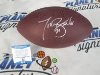 Tiki Barber New York NY Giants signed NFL football Beckett BAS COA