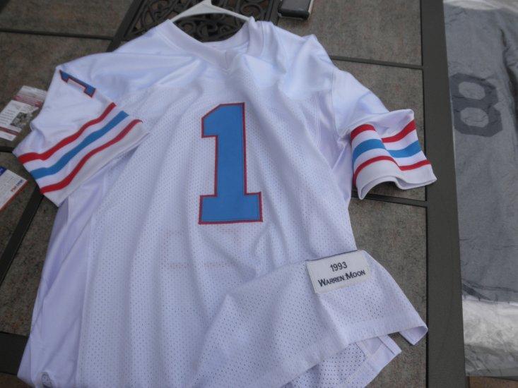 huge discount 398f6 e2f4f Warren Moon signed Houston Oilers jersey HOF Washington ...