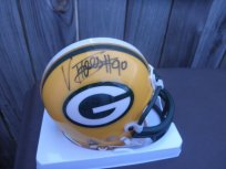 Vonnie Holliday signed Green Bay Packers mini helmet North Carolina UNC Tar Heels