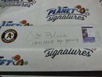 Vida Blue Signed Oakland A's Athletics Pitching Rubber w/ 1971 MVP and Cy Young JSA COA