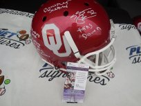 Samaje Perine Signed Oklahoma OU Sooners Full Size Helmet with STATS JSA COA Washington Redskins