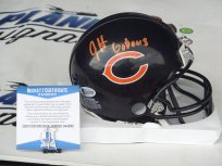 Jordan Howard Signed Chicago Bears Mini Helmet Beckett BAS COA Indiana IU Hoosiers