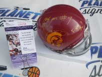 Stephen Carr Signed Southern Cal California USC Trojans Mini Helmet w/ Fight On! JSA COA