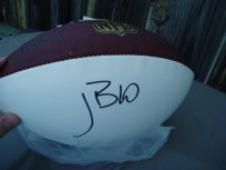 John David Booty signed NFL white panel football USC Trojans