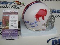 Ralph Wilson Jr signed Buffalo Bills throwback mini helmet w/ HOF 09 JSA COA