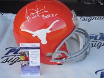 Vince Young signed Texas UT Longhorns full size CUSTOM orange helmet w/ Hook Em JSA COA Tennessee Titans