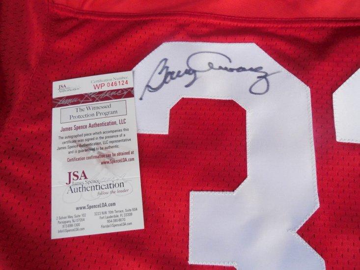 Barry Alvarez Signed Nebraska Cornhuskers Jersey Jsa Coa