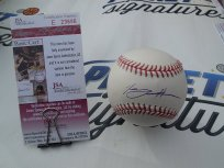 Tommy Hanson signed OML baseball LA Los Angeles Angels Atlanta Braves JSA COA