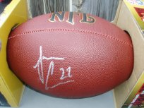 Jamar Adams signed NFL football Michigan Wolverines UM COA