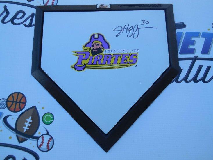 Jeff Hoffman signed East Carolina ECU Pirates baseball mini home