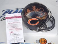 Anthony Thomas signed Chicago Bears mini helmet w/ Rookie of the Year JSA COA