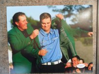 Zach Johnson signed 8x10 PGA Masters photo JSA COA