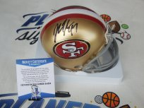 John Lynch General Manager signed San Francisco 49ers Niners mini helmet Beckett BAS COA Stanford