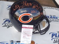 Anthony Thomas signed Chicago Bears full size helmet w/ 2001 Offensive Rookie of the Year JSA COA