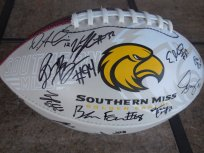 2016 Southern Miss Mississippi Golden Eagles team signed logo football Nick Mullens Keon Howard Ito Smith Jay Hopson Dyland Bradley COA